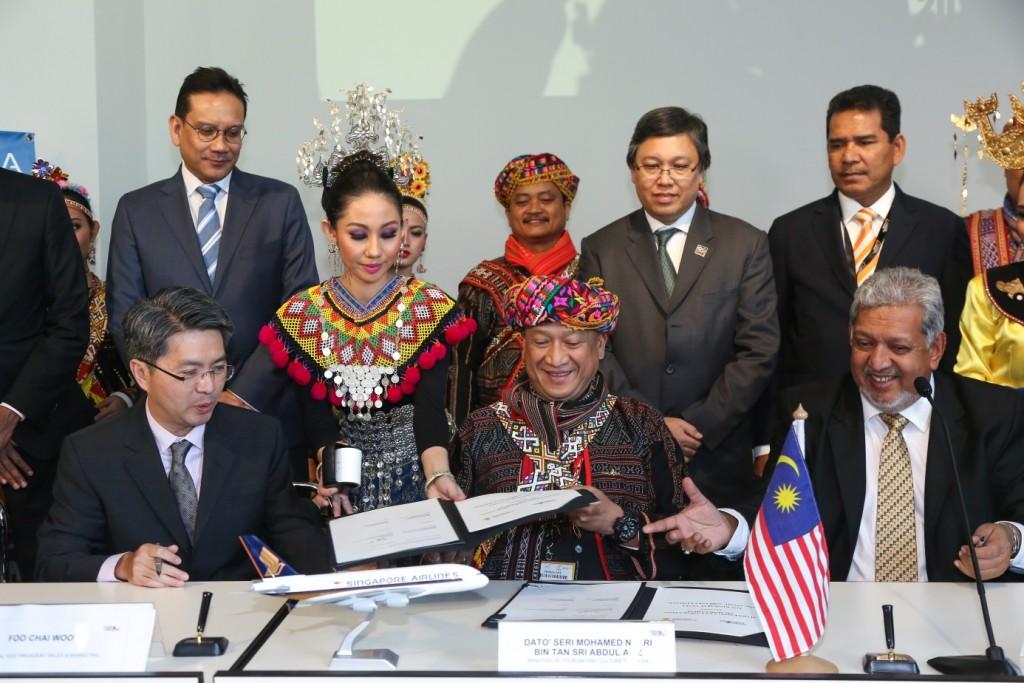 Gemeinsame Vereinbarung zwischen Tourism Malaysia und Singapore Airlines